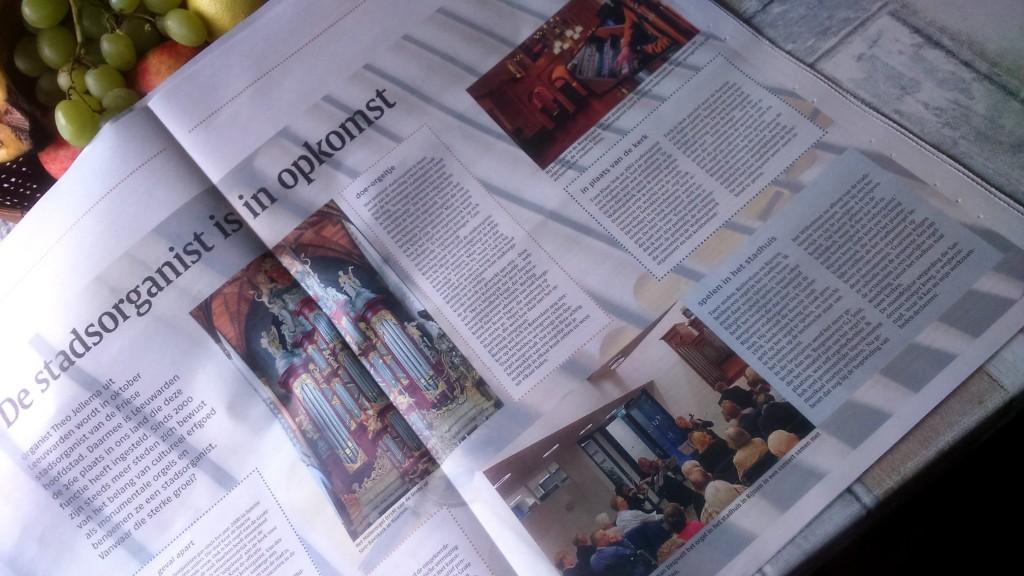 Nederlands Dagblad: artikel over stadsorganisten